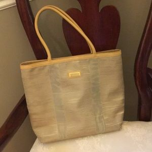 2e47ff933b2 Jim Thompson Thai Silk Tote with Leather Trim